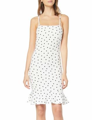 New Look Women's Adeline Spot Peplum Party Dress