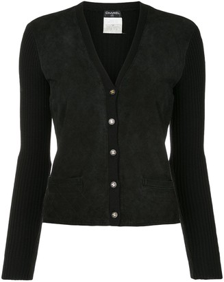 Chanel Pre Owned Quilted Buttoned Cardigan