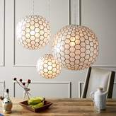 west elm Capiz Orb Pendants