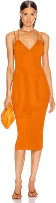 Dion Lee Layered Bra Dress in Ochre | FWRD