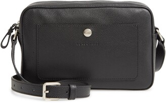 Longchamp Le Foulonne Rectangular Leather Crossbody Bag