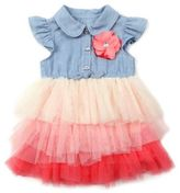Nannette Baby® Size 24M Ombre Ruffle Dress in Chambray