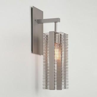 Hammerton Studio Downtown Mesh Indoor 1-Light Armed Sconce Finish: Metallic Beige Silver