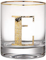 Anthropologie Gilded Monogram Glass Tumbler, 443ml