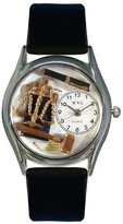 Whimsical Watches Women's S0620002 Lawyer Black Leather Watch