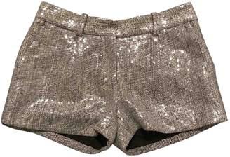 Diane von Furstenberg Metallic Silk Shorts