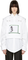 Raf Simons White Robert Mapplethorpe Edition Self Portrait Dungaree Top