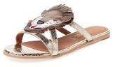 F-Troupe Lion Metallic Leather Sandal