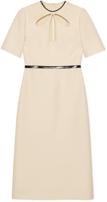 Gucci Wool silk sheath dress with cut-out detail