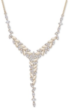 "Wrapped in Love Diamond Vine 18"" Lariat Necklace (1 ct t.w.) in 14k Gold, Created for Macy's"