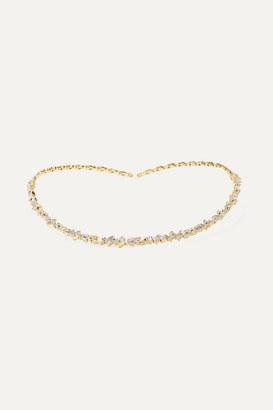 Suzanne Kalan 18-karat Gold Diamond Collar