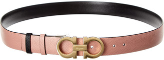 Salvatore Ferragamo Gancini Buckle Reversible & Adjustable Leather Belt