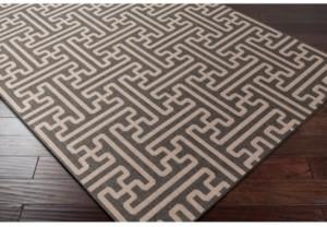 """Surya Alfresco Alf-9604 Black 8'9"""" x 12'9"""" Area Rug, Indoor/Outdoor"""
