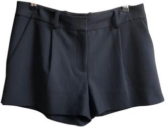 Diane von Furstenberg Black Polyester Shorts