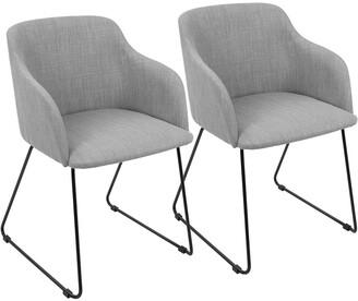 Lumisource Set Of 2 Daniella Dining Chairs