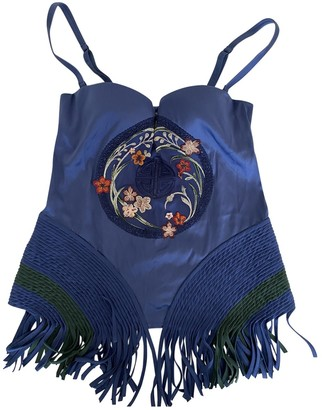 La Perla Blue Silk Top for Women