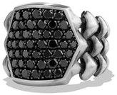 David Yurman Armory Men's Black Diamond Signet Ring