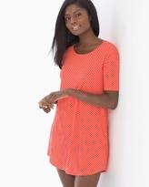 Soma Intimates Loose Fit Short Sleeve Sleepshirt Mod Dot Grenadine