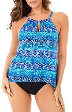 Miraclesuit Blue Curacao Peephole Tankini Top