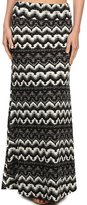 Simplicity Women Tribe Print Foldover Waist Maxi Skirts, Multi-color , L/XL
