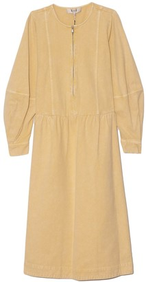 Sea Metta Acid Puff Sleeve Maxi Dress in Maize