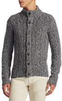 Saks Fifth Avenue COLLECTION Trapper Button-Front Wool Cardigan