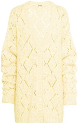 Miu Miu Crystal Detailed Crocheted Cardigan