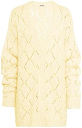 Miu Miu crystal detailed crocheted cardigan