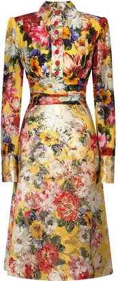 Dolce & Gabbana Floral Pleated Skirt Dress