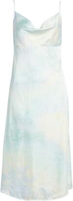 Lulus Tranquil State Tie Dye Satin Midi Dress