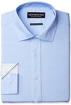 Nick Graham Men's Solid Cotton Poplin Dress Shirt- Modern Fit- Spread Collar