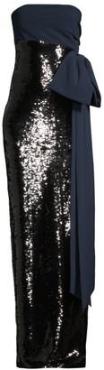 Sachin + Babi Siena Strapless Sequin Column Gown