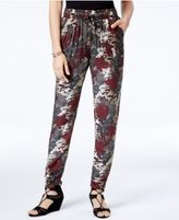 Rewash Juniors' Printed Tapered Soft Pants