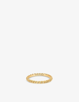 Boucheron Serpent Boheme 18ct yellow-gold wedding band, Size: 49mm, yellow