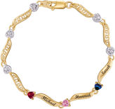 JCPenney FINE JEWELRY Personalized 10K Yellow Gold Family Birthstone Heart Bracelet