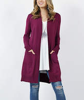 Lydiane Women's Open Cardigans MGT-magenta - Magenta Long-Sleeve Side-Pocket Open Cardigan - Women