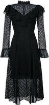 Temperley London prairie lace ruffle dress - women - Cotton/Polyamide/Polyester - 16