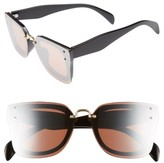 BP Women's 48Mm Cat Eye Shield Sunglasses - Black Pink