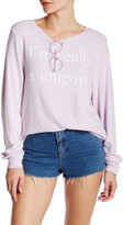 Wildfox Couture Really A Unicorn Pullover