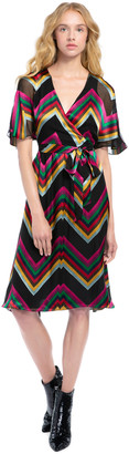 Alice + Olivia Lexa Chevron Midi Dress