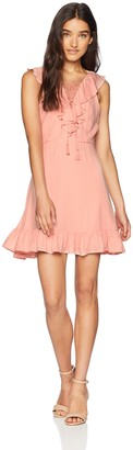 Jack by BB Dakota Junior's Helen Solid Ruffle Dress