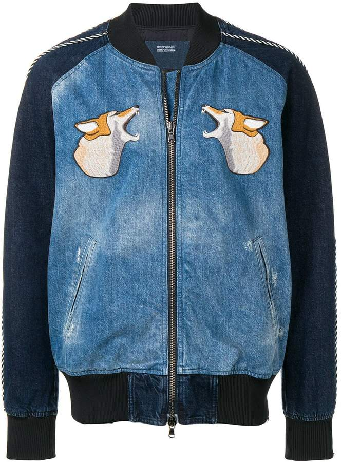 Diesel Black Gold hunting embroidery bomber jacket
