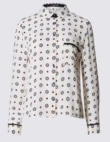 Marks and Spencer PETITE Geometric Print Long Sleeve Shirt