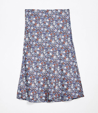 LOFT Plus Petaled Pull On Midi Skirt