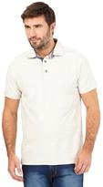 Mantaray Big And Tall Off White Birdseye Textured Polo Shirt