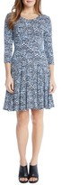 Karen Kane Women's Print Jersey Fit & Flare Dress