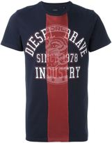 Diesel mesh panel T-shirt