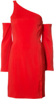 Thierry Mugler off shoulder dress - women - Polyester/Spandex/Elastane/Viscose - 36