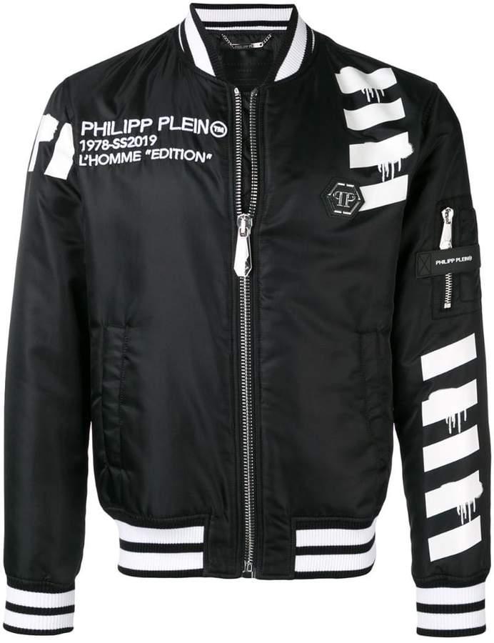 Philipp Plein skull print bomber jacket