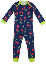 BedHead Cherry Pick Pajama Shirt & Pants, Navy, Size 3-24 Months